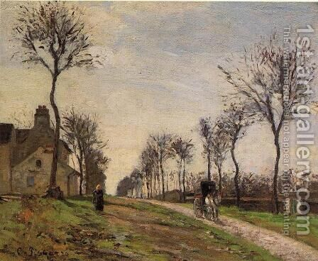 Road to Louveciennes  1870 by Camille Pissarro - Reproduction Oil Painting