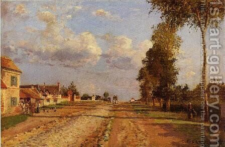 Road to Saint-Germain Louveciennes  1871 by Camille Pissarro - Reproduction Oil Painting