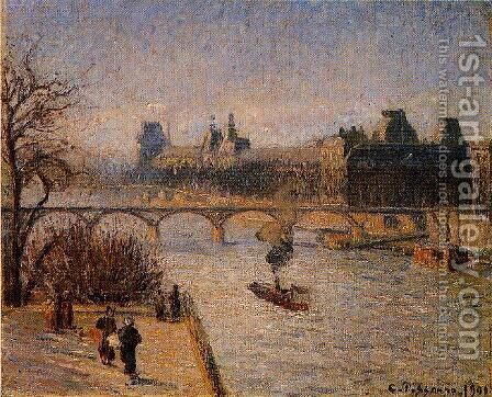 The Louvre2  1901 by Camille Pissarro - Reproduction Oil Painting
