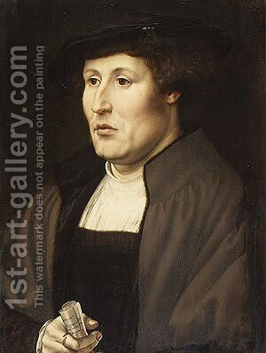 Portrait of a Man 1520 by Jan (Mabuse) Gossaert - Reproduction Oil Painting