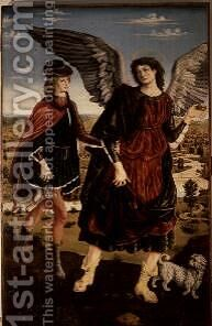Tobias and the Archangel Raphael by Antonio Pollaiolo - Reproduction Oil Painting