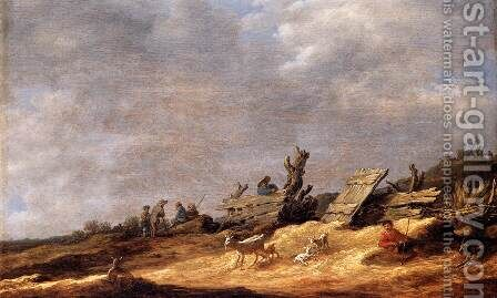 Dune Landscape 1631 by Jan van Goyen - Reproduction Oil Painting
