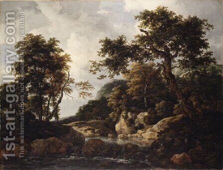 The Forest Stream ca 1660 by Jan van Goyen - Reproduction Oil Painting