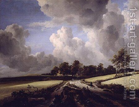 Wheat Fields ca 1670 by Jan van Goyen - Reproduction Oil Painting