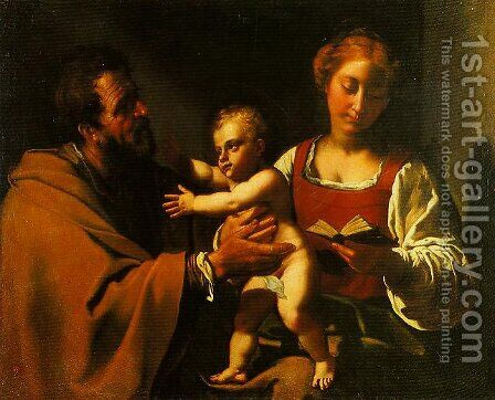 The Holy Family by Antiveduto Gramatica - Reproduction Oil Painting