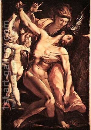 The Martyrdom Of St Sebastian by Carlo Antonio Procaccini - Reproduction Oil Painting