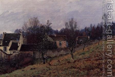 Autumn in Louveciennes  1873 by Alfred Sisley - Reproduction Oil Painting