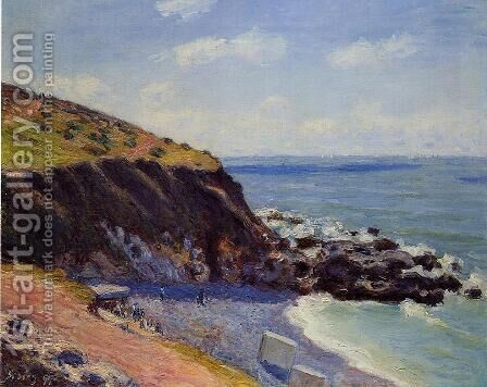 Lady's Cove - Langland Bay Morning  1897 by Alfred Sisley - Reproduction Oil Painting