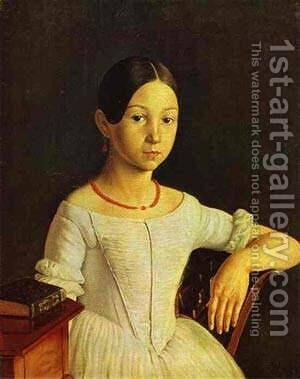 Portrait Of Ln Milyukova End Of 1840s by Grigori Vasilievich Soroka - Reproduction Oil Painting