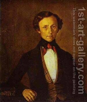 Portrait Of Va Preobrazhensky 1850s by Grigori Vasilievich Soroka - Reproduction Oil Painting