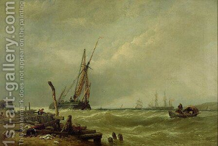 On the Texel 1856 by Clarkson Stanfield - Reproduction Oil Painting