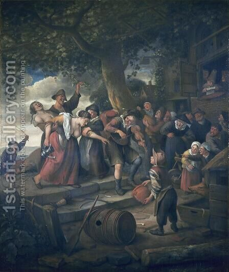The Drunken Woman by Jan Steen - Reproduction Oil Painting