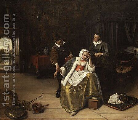 The Lovesick Maiden ca 1660 by Jan Steen - Reproduction Oil Painting