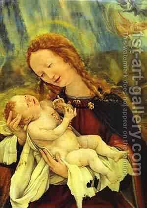 Nativity Detail 1510-1515 by Matthias Grunewald (Mathis Gothardt) - Reproduction Oil Painting