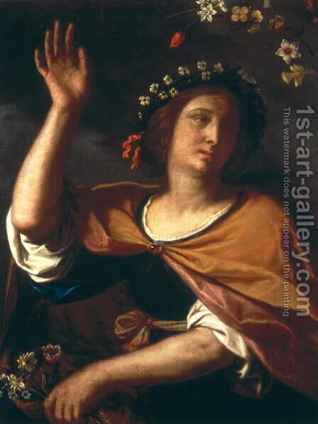 Allegory of Spring by Guercino - Reproduction Oil Painting