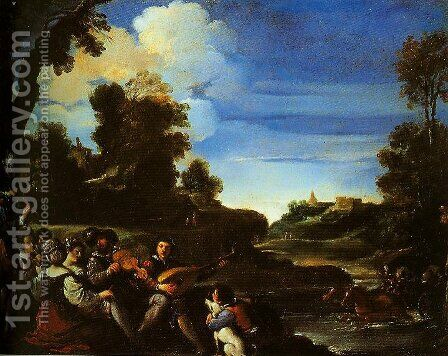 Concert Champetre by Guercino - Reproduction Oil Painting