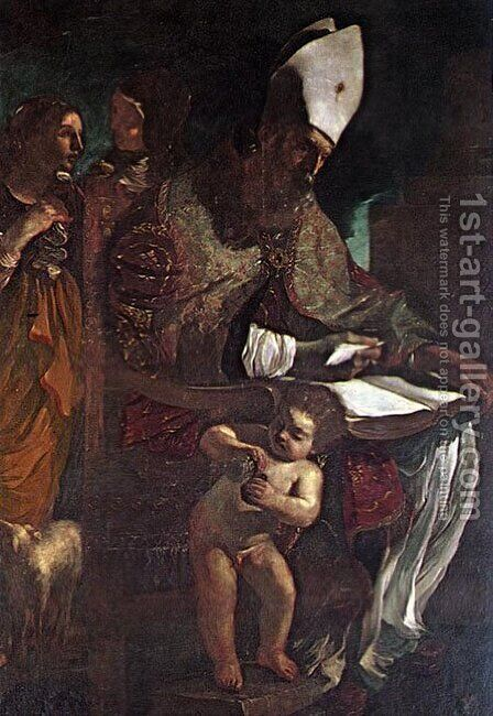 St Augustine by Guercino - Reproduction Oil Painting