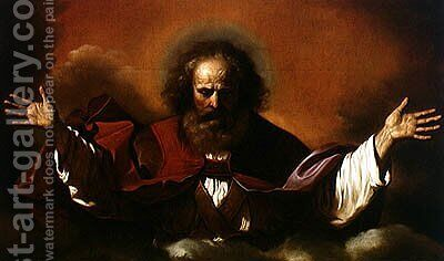 The Eternal Father by Guercino - Reproduction Oil Painting