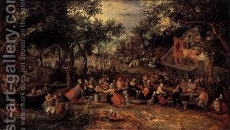 Kermis 1605 by David Vinckboons - Reproduction Oil Painting