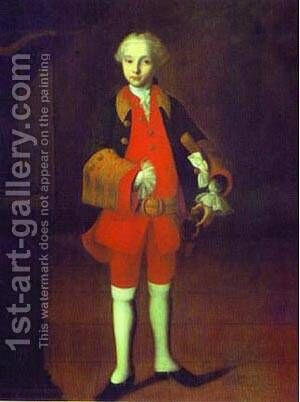 William George Fermor 1750s by Ivan Vishnyakov - Reproduction Oil Painting