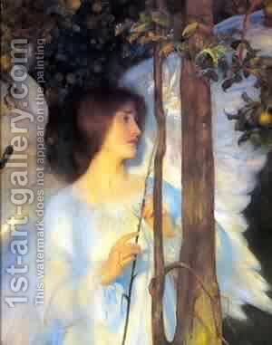 The Cloister Of The Bell by Arthur Hacker - Reproduction Oil Painting