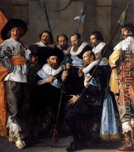 The Meagre Company (detail) 1633-37 by Dirck Hals - Reproduction Oil Painting