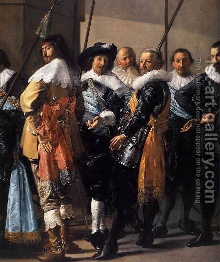 The Meagre Company (detail) 1633-37 2 by Dirck Hals - Reproduction Oil Painting