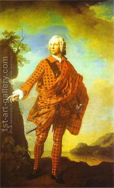 Norman The Red Man 22nd Chief Of Macleod 1747 by Allan Ramsay - Reproduction Oil Painting