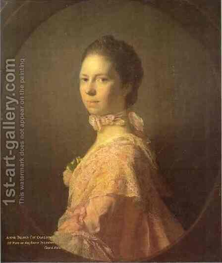 Portrait Of Anne Brown 1763 by Allan Ramsay - Reproduction Oil Painting