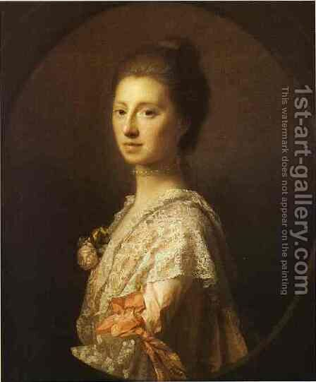 Portrait Of Anne Bruce Mrs Bruce Of Arnot 1765 by Allan Ramsay - Reproduction Oil Painting