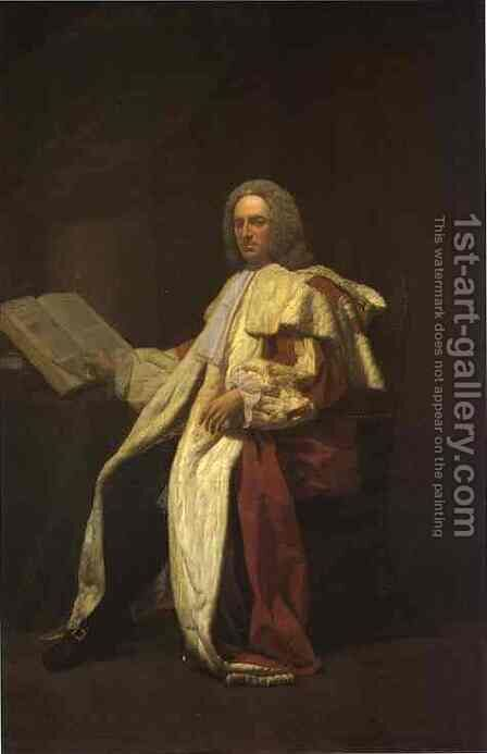 Portrait Of Archibald Campbell 3rd Duke Of Argyll 1749 by Allan Ramsay - Reproduction Oil Painting