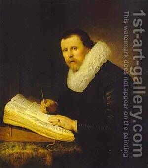 A Scholar 1631 by Harmenszoon van Rijn Rembrandt - Reproduction Oil Painting