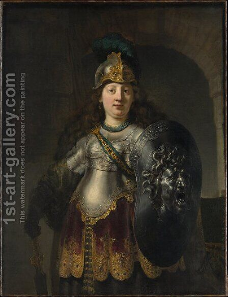 Bellona 1633 by Harmenszoon van Rijn Rembrandt - Reproduction Oil Painting