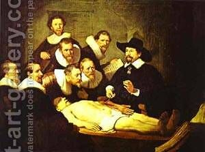 Doctor Nicolaes Tulps Demonstration Of The Anatomy Of The Arm 1632 by Harmenszoon van Rijn Rembrandt - Reproduction Oil Painting