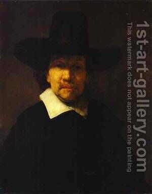 Jeremias De Dekker 1666 by Harmenszoon van Rijn Rembrandt - Reproduction Oil Painting