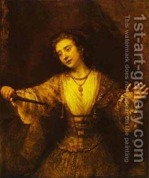 Lucretia 1664 by Harmenszoon van Rijn Rembrandt - Reproduction Oil Painting