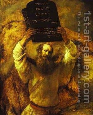 Moses Smashing The Tables Of The Law 1659 by Harmenszoon van Rijn Rembrandt - Reproduction Oil Painting