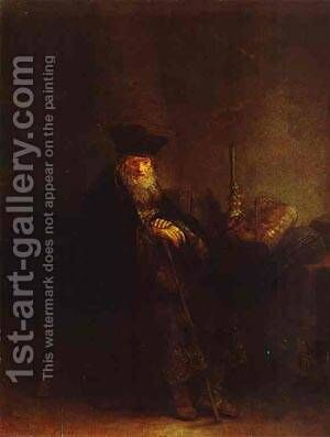 Old Rabbi 1642 by Harmenszoon van Rijn Rembrandt - Reproduction Oil Painting