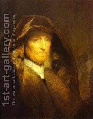 Portrait Of The Artists Mother 1629 by Harmenszoon van Rijn Rembrandt - Reproduction Oil Painting