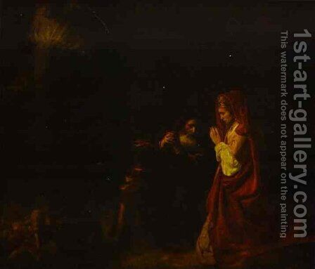 Sacrifice Of Manoah 1641 by Harmenszoon van Rijn Rembrandt - Reproduction Oil Painting