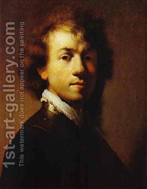 Self Portrait 1629 by Harmenszoon van Rijn Rembrandt - Reproduction Oil Painting