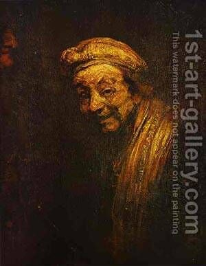 Self Portrait 2 1668 by Harmenszoon van Rijn Rembrandt - Reproduction Oil Painting