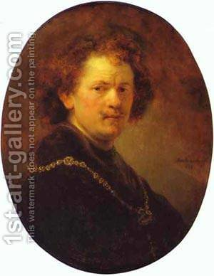 Self Portrait Bareheaded 1633 by Harmenszoon van Rijn Rembrandt - Reproduction Oil Painting