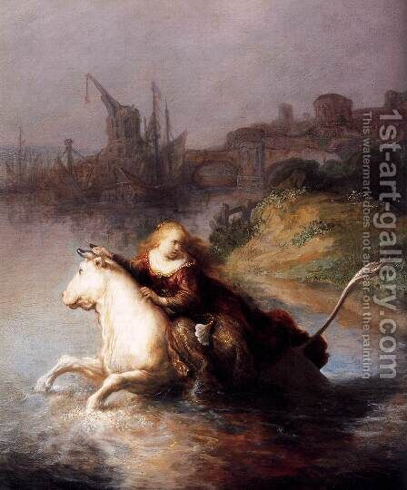 The Abduction of Europa (detail) 1632 by Harmenszoon van Rijn Rembrandt - Reproduction Oil Painting