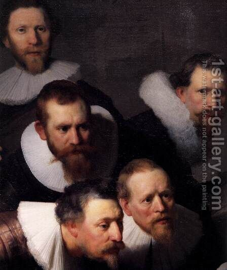 The Anatomy Lecture of Dr. Nicolaes Tulp (detail) 1632 by Harmenszoon van Rijn Rembrandt - Reproduction Oil Painting