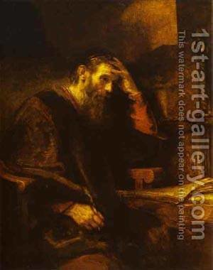 The Apostle Paul 1657 by Harmenszoon van Rijn Rembrandt - Reproduction Oil Painting