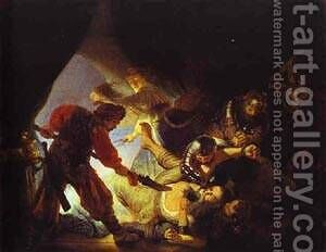 The Blinding Of Samson 1636 by Harmenszoon van Rijn Rembrandt - Reproduction Oil Painting