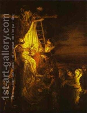 The Descent From The Cross 1651 by Harmenszoon van Rijn Rembrandt - Reproduction Oil Painting