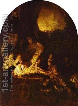 The Entombment 1639 by Harmenszoon van Rijn Rembrandt - Reproduction Oil Painting
