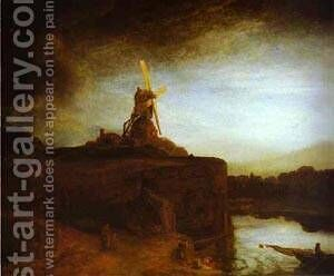 The Mill 1650 by Harmenszoon van Rijn Rembrandt - Reproduction Oil Painting